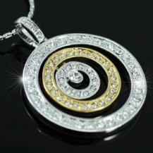 Кулон Designer Circles Necklace use Swarovski Crystal SN119